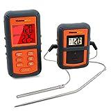 ThermoPro TP08 Funk-Grillthermometer Set mit 2 Temperaturfühlern für BBQ, Ofen und Grills.