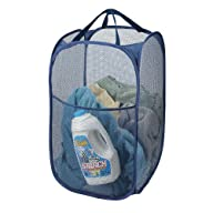 Deluxe Pop-up Laundry Hamper (Navy Blue)