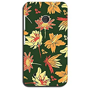 Mozine Flying Flower Patterns Printed Mobile Back Cover For Nokia Lumia 530