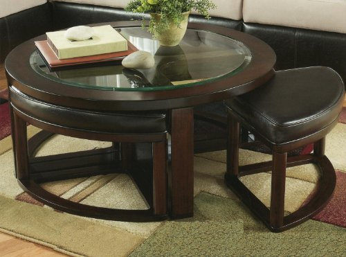 Round Coffee Table With 4 Chairs 9