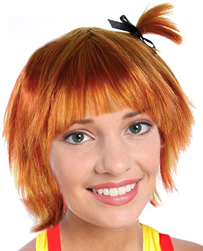 Women's Orange Misty Wig With Pigtails for Misty Costume Orange Wig Misty (Orange Costume For Kids)