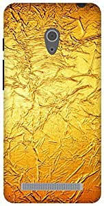 The Racoon Grip gold satin hard plastic printed back case / cover for Asus Zenfone 6 A600CG/A601CG