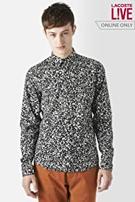L!VE Long Sleeve All Over Printed Poplin Woven Shirt
