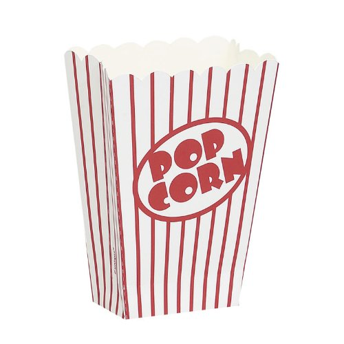"""Small Popcorn Boxes 5""""X3.75""""X2"""" 8/Pkg- front-535263"""