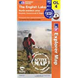 The English Lakes - North Western Area (OS Explorer Map Active): Keswick, Cockermouth & Wigtonby Ordnance Survey