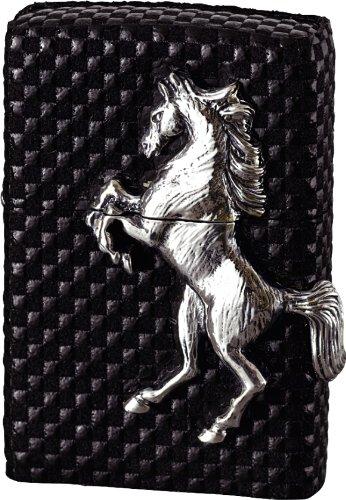 ZIPPO(ジッポー) ウイニングウィニー 本印傅革 メタル貼り シルバー