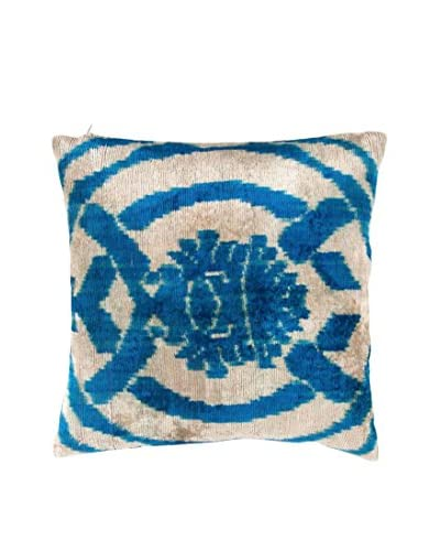 Found Object Paolo Silk Velvet Ikat Throw Pillow