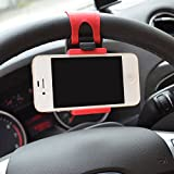 Costech® Universal Car Steering Wheel Mount Holder Holding GPS Rubber Band for Iphone 6,6plus,5,5s ,Samsung Galaxy S6,S5,Note 5,Note 4, and Other Mobile Phone of Not More Than 5.5 Inches