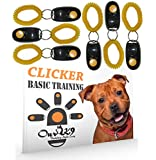 Our K9 Dog Training Clicker Kit - Includes 6 x Dog Training Clickers and a Basic Clicker Training for Dogs Book - The Clicker Dog Training Book Introduces you on How to Use Dog Clickers for Training.