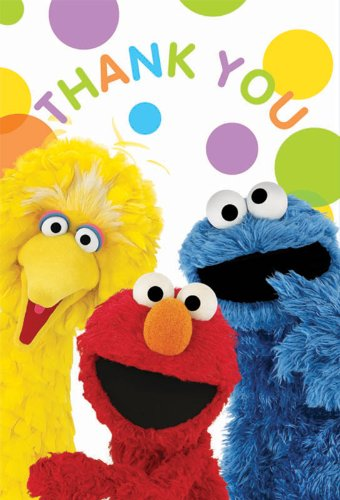 Sesame Street Party - Thank-You Notes Party Accessory