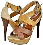 Kiss&Tell Lillian-03 Brown Women Platform Sandals