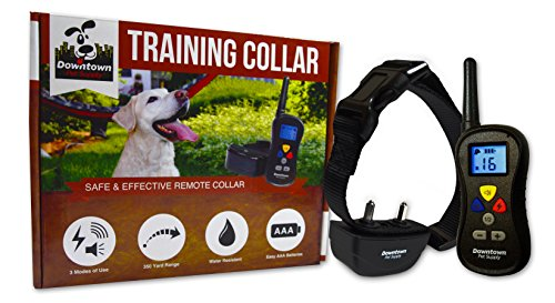 Remote Controlled Dog Training Electronic with Vibration, Shock & Tone for Small, Medium & Large Pets Waterproof, Safe Behavior, No Jump, No Bark, Obedience w/ Remote 1000+ feet (1 Dog) (Downtown Pet Supply compare prices)