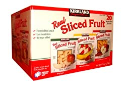Kirkland Real Sliced Freeze-dried Fruit Snacks Variety Pack by Kirkland Signature