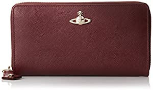 Vivienne Westwood Opio Saffiano Leather Wallet, Bordeaux, One Size