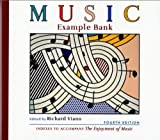 img - for Music Example Bank: Indexes to Accompany The Enjoyment of Music (Fourth Edition) book / textbook / text book