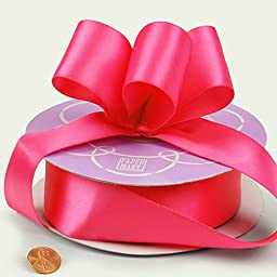 Hot Pink Double Face Satin Ribbon, 1-1/2\