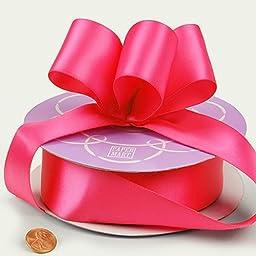 Hot Pink Double Face Satin Ribbon, 1-1/2\