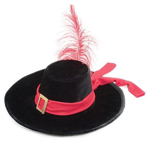 Jacobson Hat Company Men's Velvet Swashbuckler Hat, Black, One Size