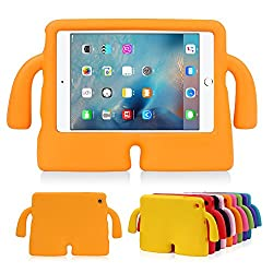 Lioeo iPad Mini Case for Kids Freestanding with Handle Lightweight EVA Foam Case for Apple iPad Mini 4 3 2 1 7.9 inch (Orange)