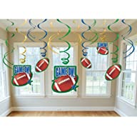 Amscan 203355 Football Swirl Decorations