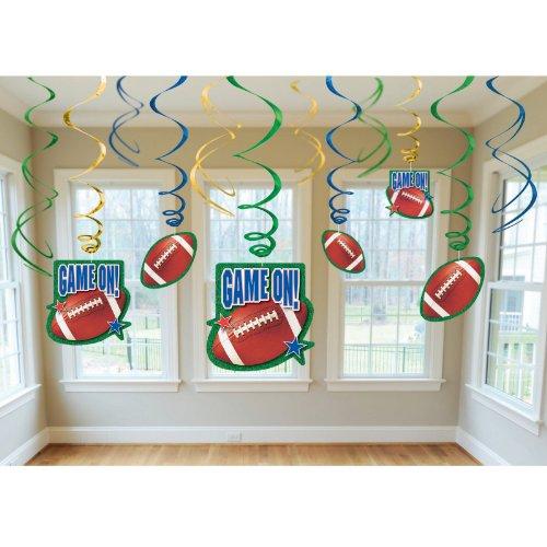 Amscan 203355 Football Swirl Decorations