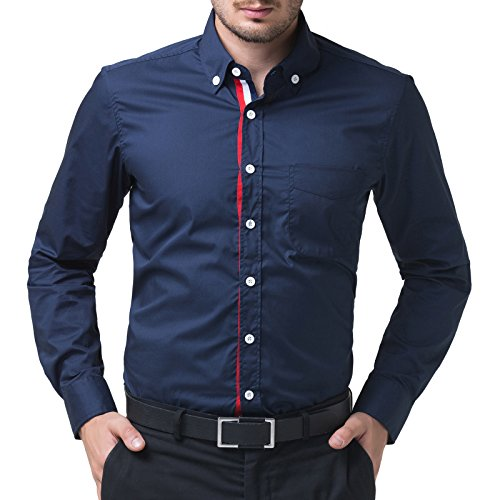 PAUL JONES Mens Slim Fit Long Sleeves Casual Shirts CL5248-49