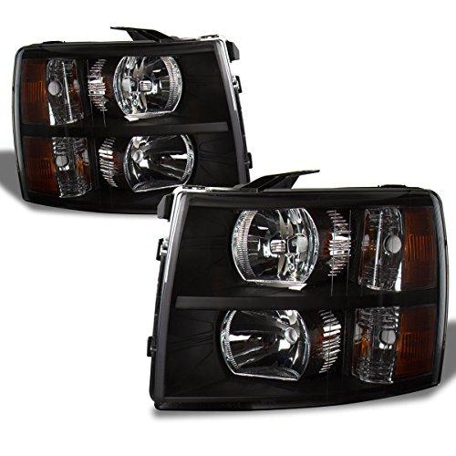 SPPC Black Headlights For Chevy Silverado - (Pair) (90 Chevy Silverado Headlights compare prices)