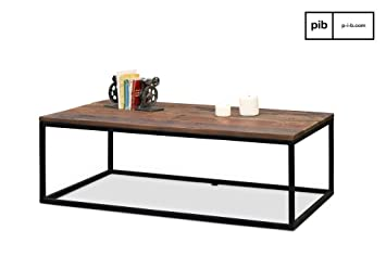 Table basse industrielle en bois New Soho