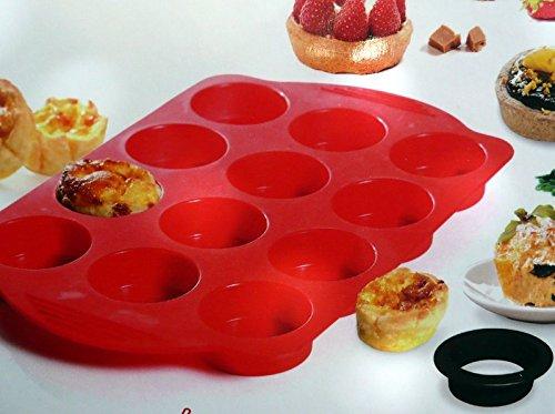 Yoko Design 1261 Kit Tartelettes Silicone/Platinum Rouge 30 x 19 x 5 cm