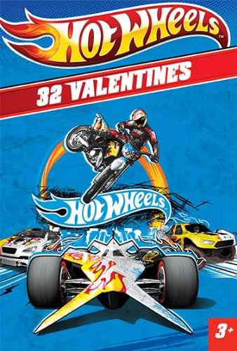 Paper Magic Showcase Hot Wheels Valentines Exchange Cards (32 Count)