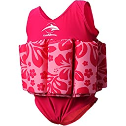 Konfidence Floatsuit, Pink Hibiscus, 1-2 Years