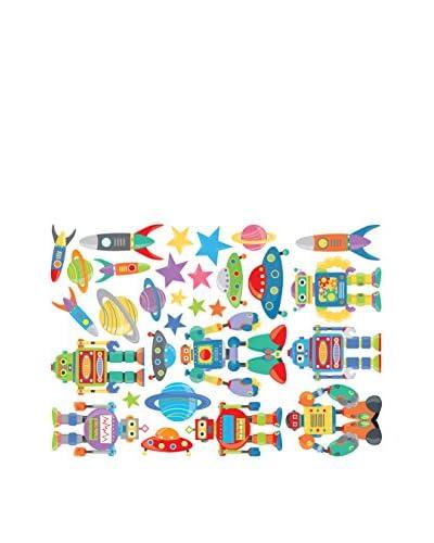 Ambiance Live Vinilo Decorativo Robots kid Multicolor