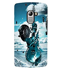 ColourCraft Stylish Guitar Design Back Case Cover for LENOVO VIBE X3 LITE