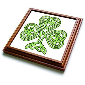 EvaDane - St, Patricks Day - Celtic Shamrock - Trivets - 8x8 Trivet with 6x6 ceramic tile (trv_108308_1)