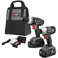 PORTER-CABLE PC218IDC-2 18-Volt NiCd Drill/Impact Driver 2-Tool Kit by PORTER-CABLE