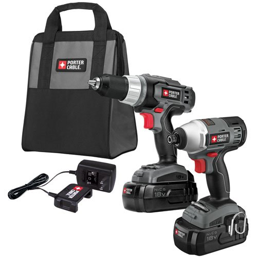 PORTER-CABLE PC218IDC-2 18-Volt NiCd Drill/Impact Driver 2-Tool Kit Coupon 2015