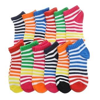 Angelina Dozen-Pack COTTON Low Cut Socks, #2305_CST_0-9