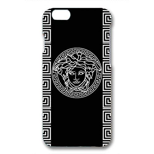 Black Background Versace Logo Design Phone Case 3D Hard Plastic Case Cover Snap on Iphone 6/6S Versace Logo Design