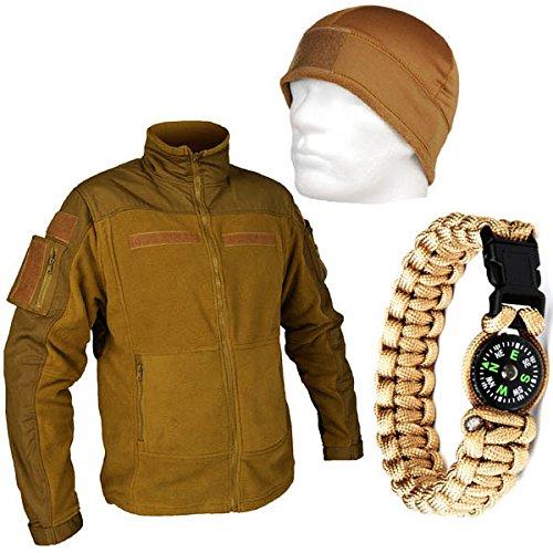 tactical-outdoor-set-fleecemutze-mit-paracord-survival-armband-und-kommando-fleecejacke-combat-vest-