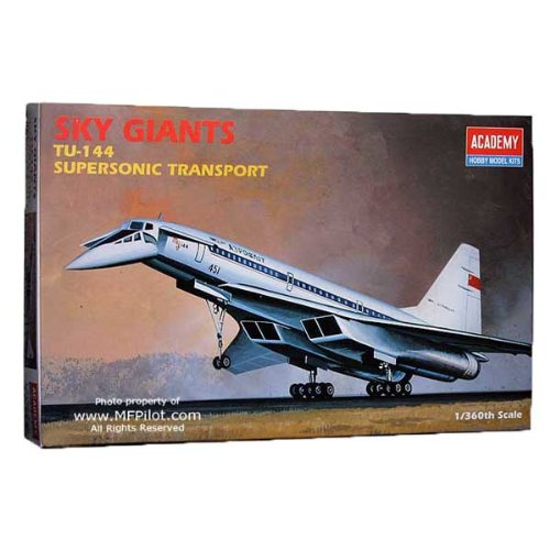 Academy Sky Giants: TU-144 Supersonic Transport Model Kit - 1
