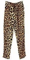 Women Leopard Print Tapered Harem Leg…