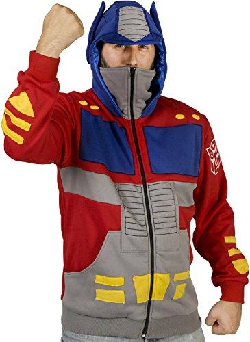 80sTees Men's Optimus Prime Costume Hoodie - X-Large