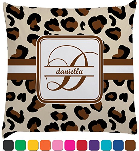 Leopard Print Decorative Pillow Case (Personalized) front-1007656