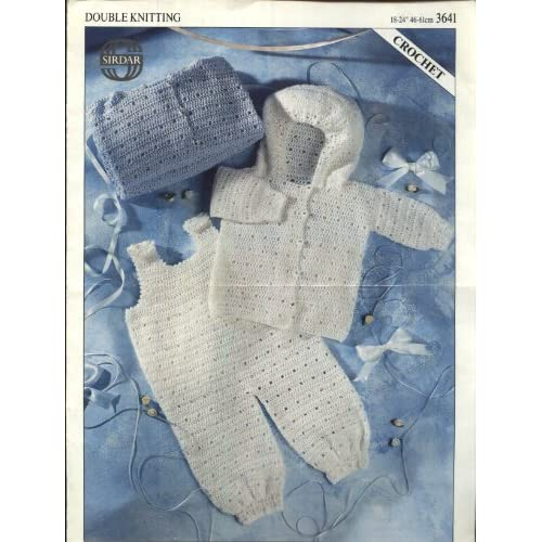 Crochet Pattern Baby Dungarees : SIRDAR 3641 crochet pattern : BABY JACKET AND DUNGAREES 18 ...
