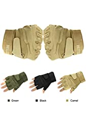 Muyankissu Military Half-finger Fingerless Tactical Airsoft Hunting Riding Cycling Gloves
