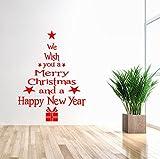 FEAST DAY クリスマス ツリー プレゼント レッド ウォールステッカー 壁飾り