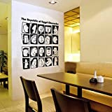 Egypt Character Personalized Expression Wall Stickers : Wine Red