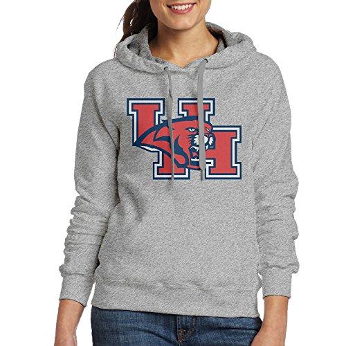 PHOEB Womens Sportswear Drawstring Hoodie Sweatshirt,University Of Houston Ash XX-Large