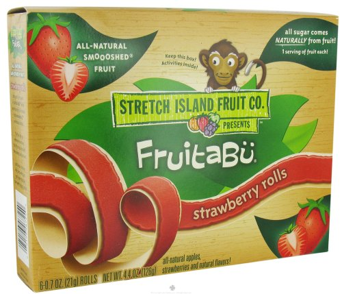 Stretch Island Fruit - Fruitabu Smoooshed Fruit Rolls (6 x .7 oz.) Strawberry - 4.4 oz. at Sears.com