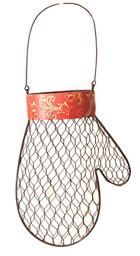 Your Hearts Delight Hanging Mitten with Open Top Decor, 6-1/2 by 9-Inch